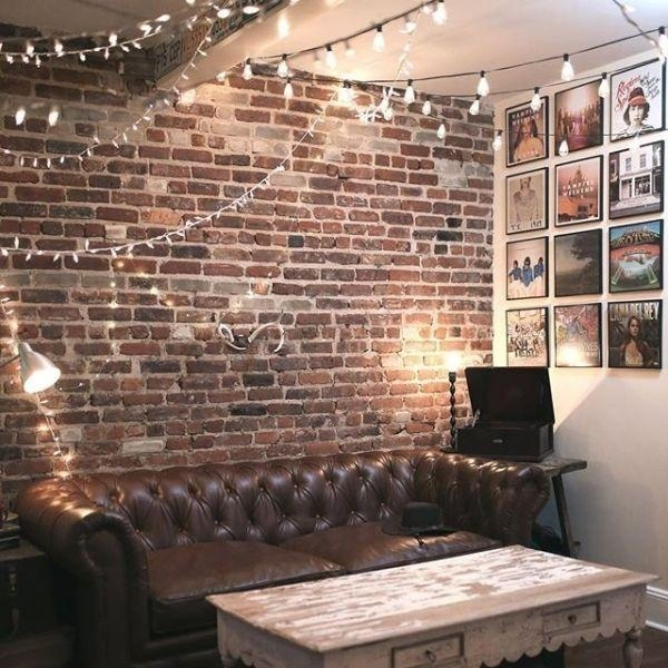 Best 25+ Brick Wall Decor Ideas On Pinterest | Rustic Industrial Regarding Hanging Wall Art For Brick Wall (Image 9 of 20)