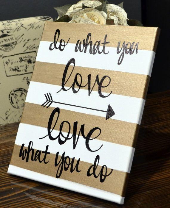 Featured Image of Diy Canvas Wall Art Quotes