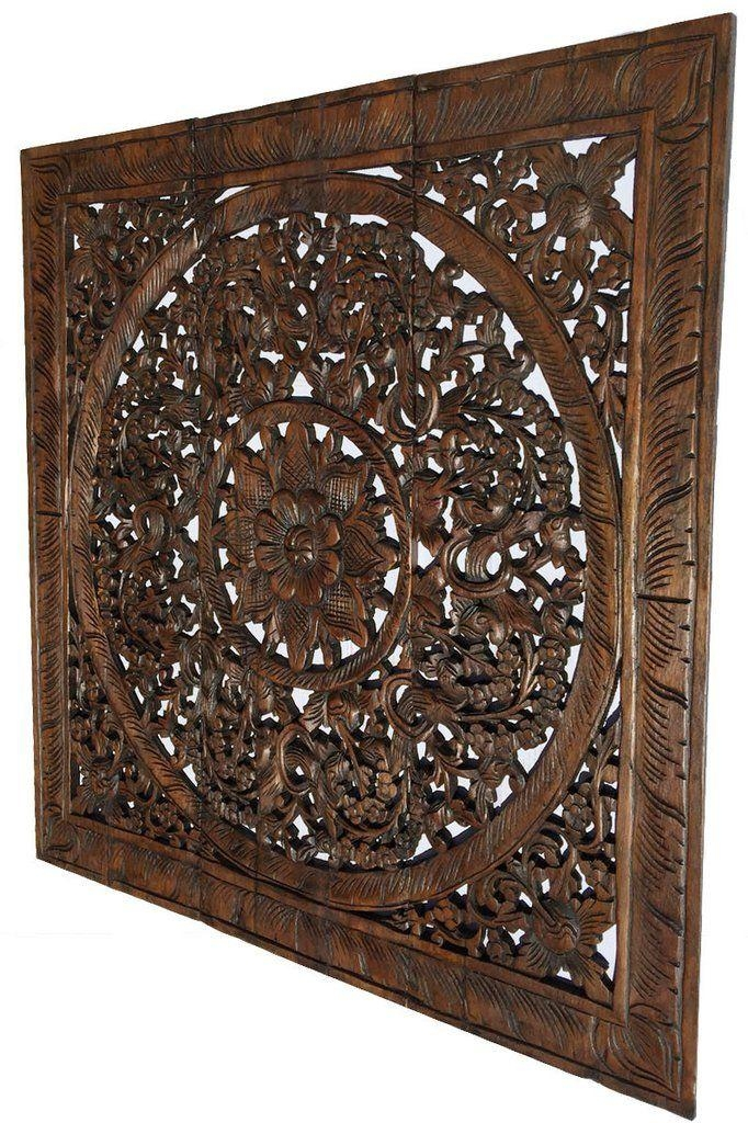 Best 25+ Carved Wood Wall Art Ideas On Pinterest | Thai Decor With Regard To Asian Themed Wall Art (Image 11 of 20)