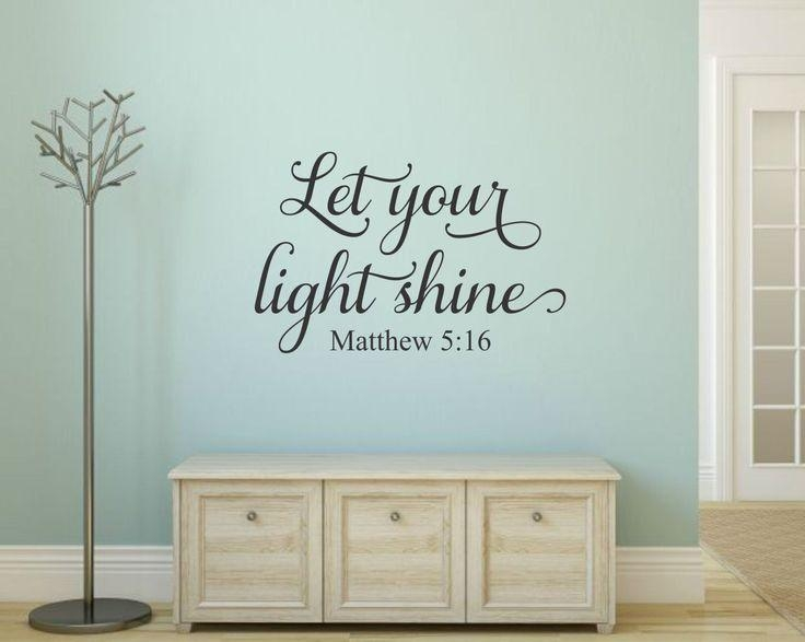 Best 25+ Christian Wall Decals Ideas On Pinterest | Wall Decor With Regard To Scripture Vinyl Wall Art (View 10 of 20)