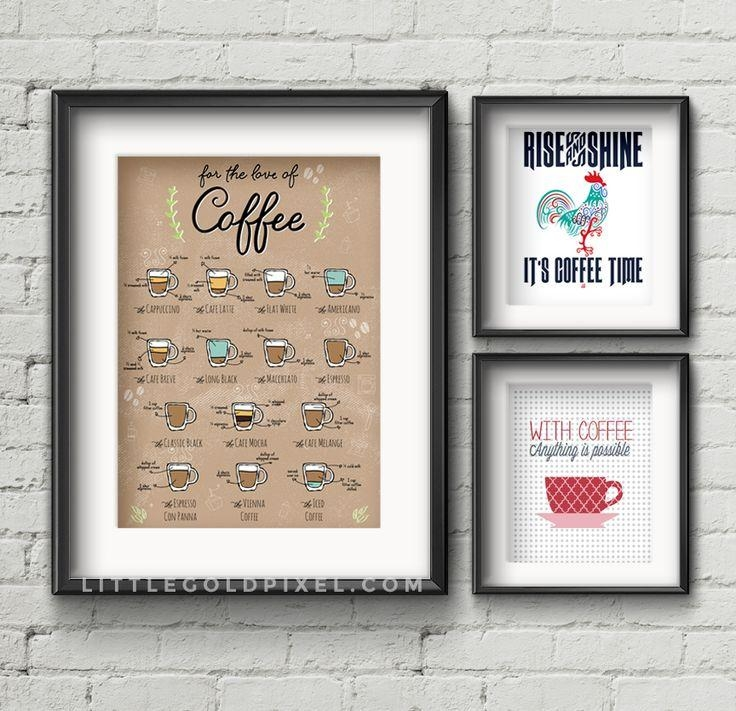 Best 25+ Coffee Wall Art Ideas On Pinterest | Coffee Shop Menu For Italian Themed Kitchen Wall Art (Image 10 of 20)