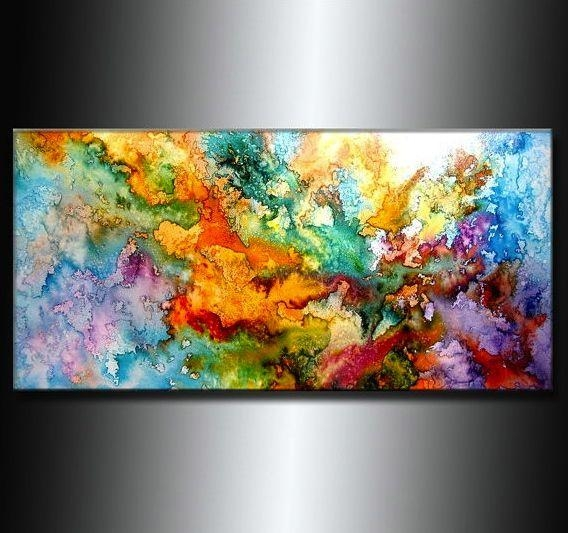 Best 25+ Colorful Abstract Art Ideas On Pinterest | Abstract Art For Colorful Abstract Wall Art (Image 12 of 20)