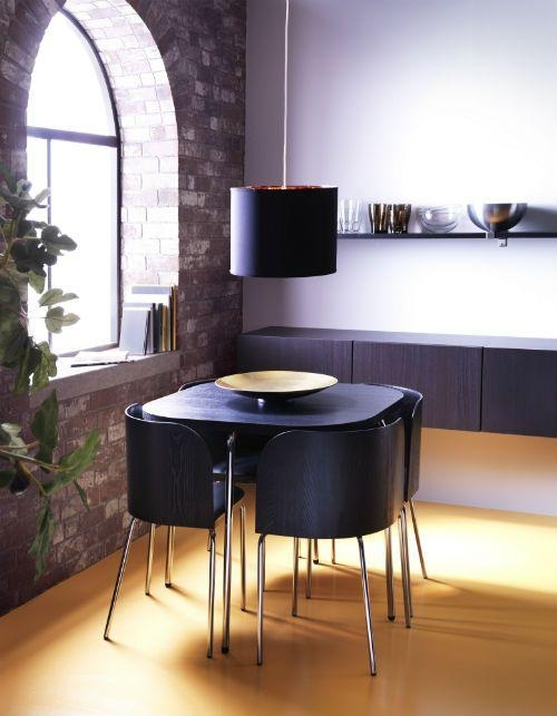 Best 25+ Compact Dining Table Ideas On Pinterest | Space Saving With Regard To Best And Newest Compact Dining Room Sets (Image 2 of 20)