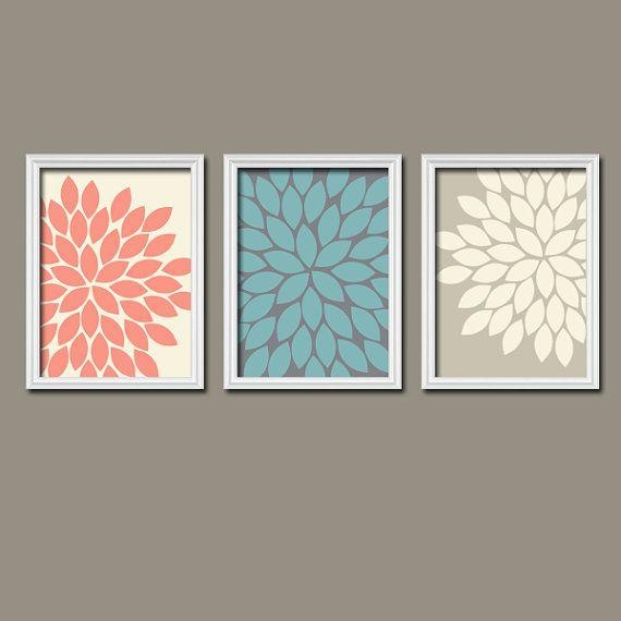 Best 25+ Coral Wall Art Ideas On Pinterest | Hallway Wall Decor In Wall Art Sets Of  (Image 4 of 20)