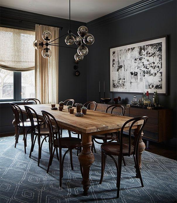 Best 25+ Dark Dining Rooms Ideas On Pinterest | Dark Wood Dining For Most Up To Date Dark Dining Room Tables (Image 2 of 20)