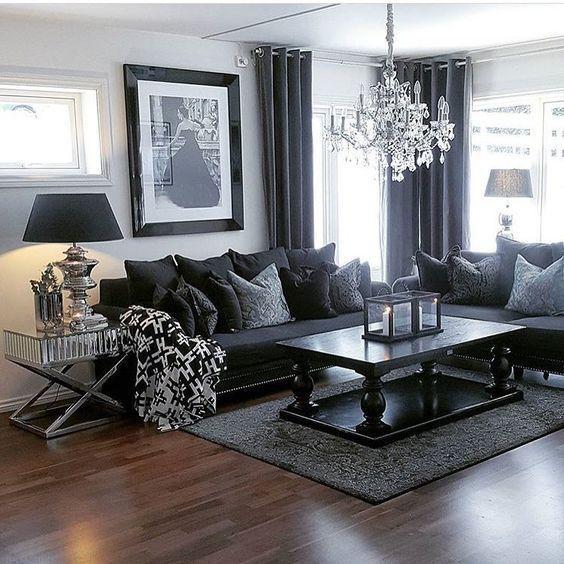 Best 25+ Dark Grey Couches Ideas On Pinterest | Dark Gray Sofa Inside Black Sofas Decors (Image 15 of 20)