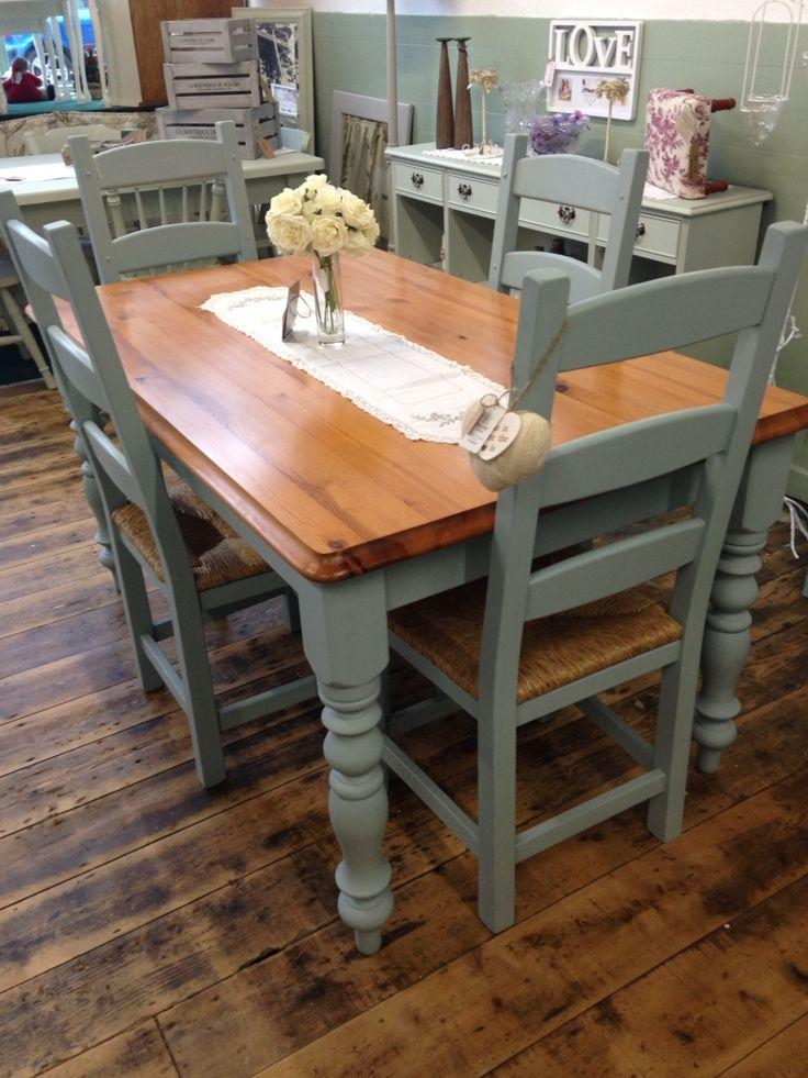 Best 25+ Dining Table Makeover Ideas On Pinterest | Dining Table Within Most Recent Painted Dining Tables (Image 5 of 20)