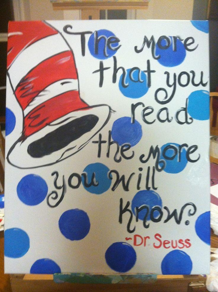 Best 25+ Dr Seuss Book Set Ideas On Pinterest | Read Sign, Dr Book Within Dr Seuss Canvas Wall Art (Image 3 of 20)