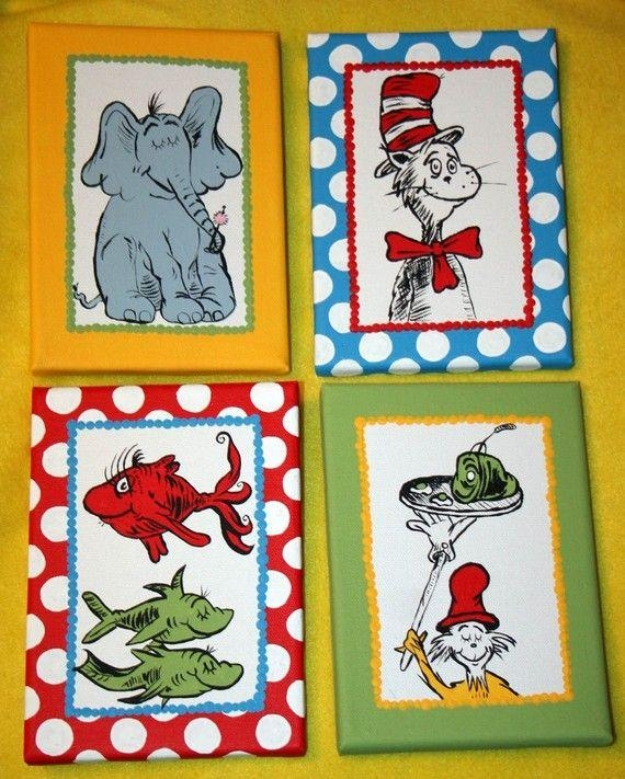Best 25+ Dr Seuss Clothing Ideas On Pinterest | Dr Seuss Birthday For Dr Seuss Canvas Wall Art (Image 4 of 20)