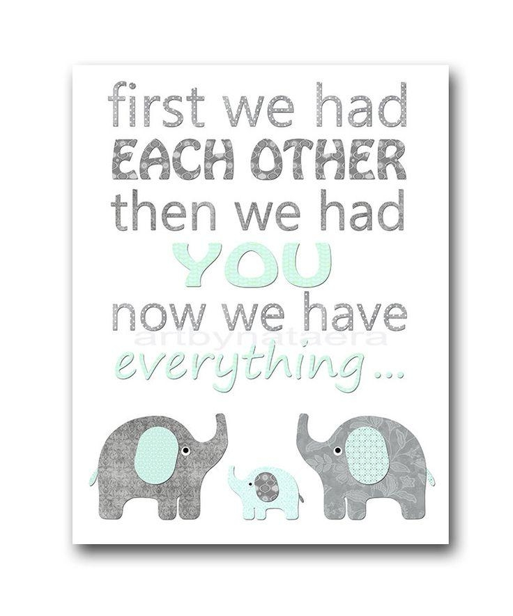 Best 25+ Elephant Nursery Boy Ideas On Pinterest | Elephant Inside Elephant Wall Art For Nursery (Image 7 of 20)