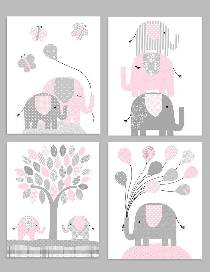 Best 25+ Elephant Nursery Decor Ideas On Pinterest | Elephant Pertaining To Elephant Wall Art For Nursery (Image 10 of 20)