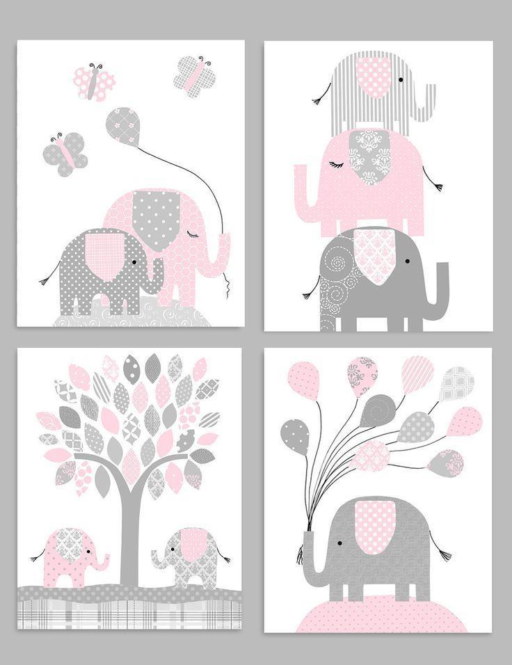Best 25+ Elephant Nursery Decor Ideas On Pinterest | Elephant Pertaining To Elephant Wall Art For Nursery (View 2 of 20)