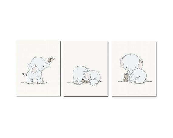 20 Collection of Elephant Wall Art for Nursery | Wall Art Ideas