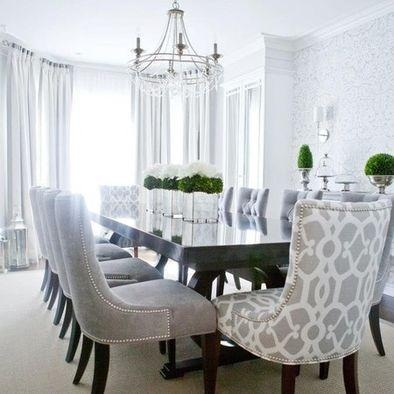 Best 25+ Fabric Dining Room Chairs Ideas On Pinterest | Slipcovers Regarding Most Current Fabric Dining Room Chairs (Image 5 of 20)