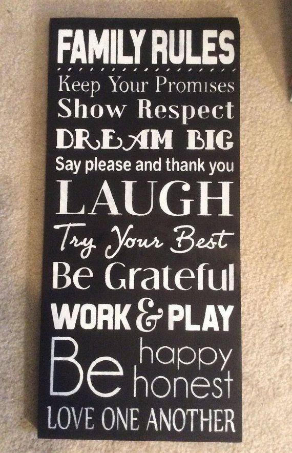 Best 25+ Family Rules Sign Ideas On Pinterest | House Rules Sign With Regard To Personalized Family Rules Wall Art (Image 9 of 20)