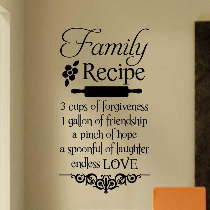 Best 25+ Family Wall Quotes Ideas On Pinterest | Word Wall Decor Intended For Family Sayings Wall Art (Image 3 of 20)
