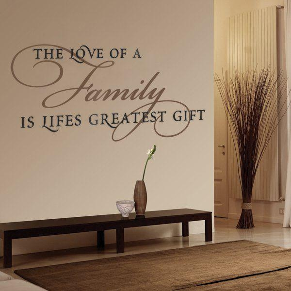 Best 25+ Family Wall Quotes Ideas On Pinterest | Word Wall Decor With Regard To Family Sayings Wall Art (Image 4 of 20)
