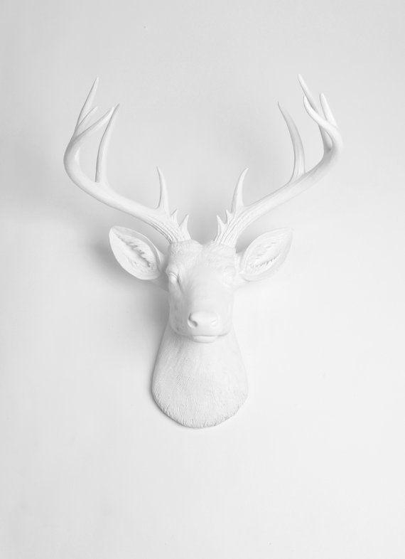 Best 25+ Faux Deer Head Ideas On Pinterest | White Deer Heads For Resin Animal Heads Wall Art (Image 8 of 20)