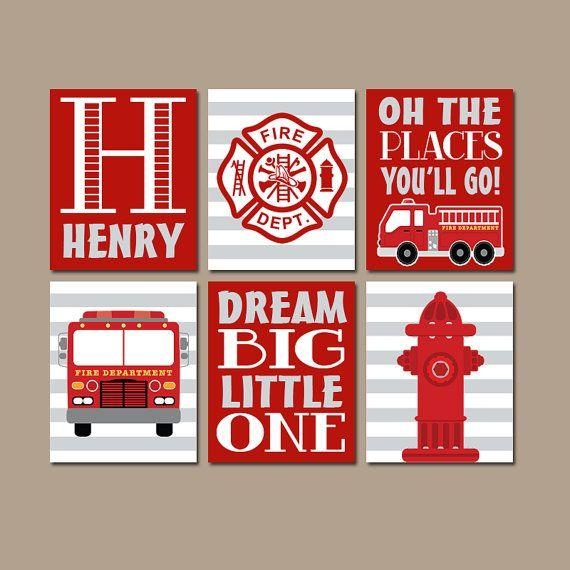 Best 25+ Fire Truck Bedroom Ideas On Pinterest | Truck Bedroom Intended For Fire Truck Wall Art (View 10 of 20)