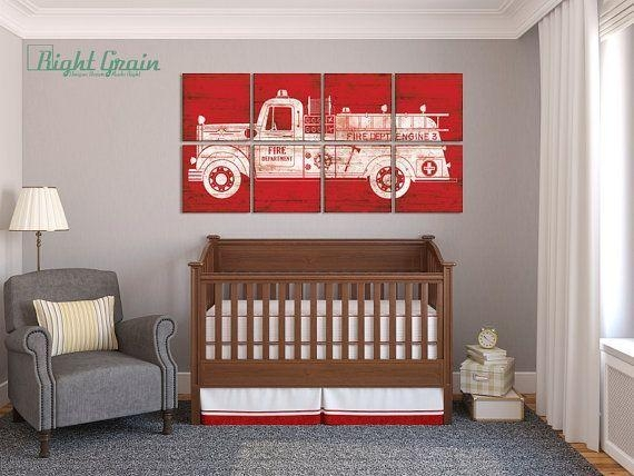Best 25+ Fire Truck Nursery Ideas On Pinterest | Fire Truck Room With Regard To Fire Truck Wall Art (View 18 of 20)