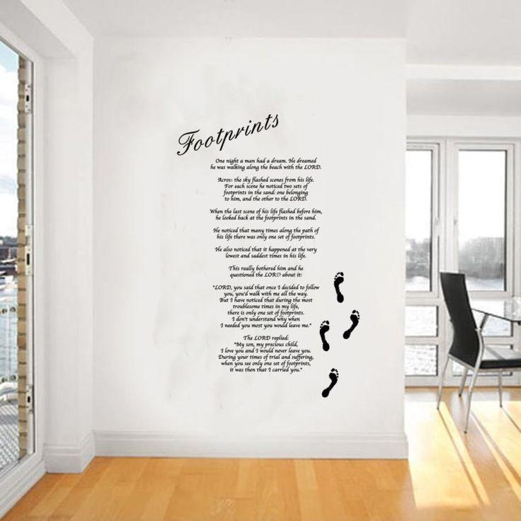 Best 25+ Footprints In The Sand Poem Ideas On Pinterest With Footprints In The Sand Wall Art (Image 5 of 20)