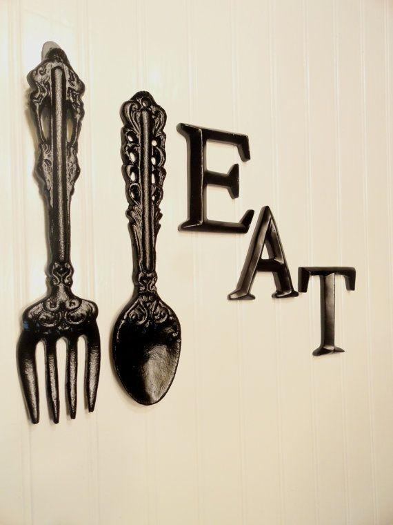 Best 25+ Fork Spoon Wall Decor Ideas On Pinterest | Chalkboard For Pertaining To Large Spoon And Fork Wall Art (View 6 of 20)