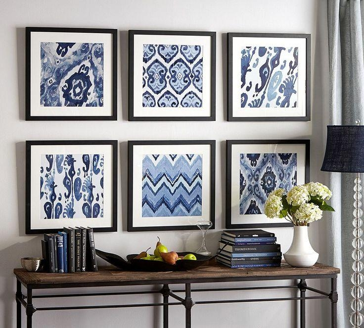 Best 25+ Framed Fabric Ideas On Pinterest | Framed Fabric Art Throughout Affordable  Framed Wall