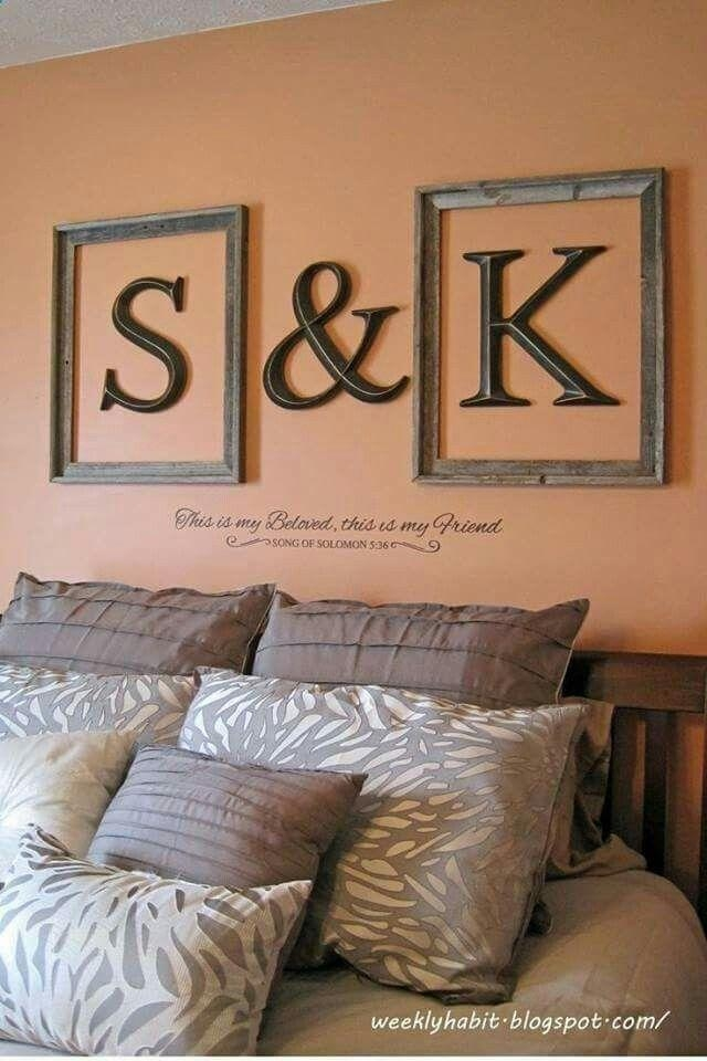 Best 25+ Framed Initials Ideas On Pinterest | Framed Letters Throughout Decorative Initials Wall Art (View 16 of 20)