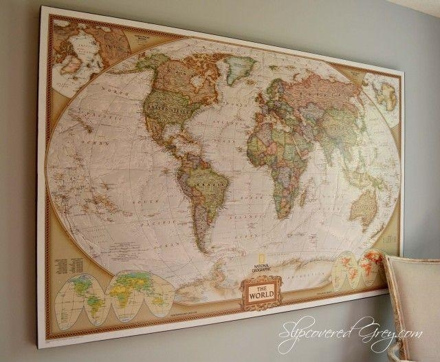 Best 25+ Framed World Map Ideas On Pinterest | Map Themed Room Inside Old World Map Wall Art (Image 4 of 20)