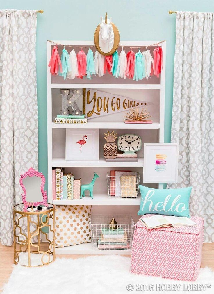 Best 25+ Girl Wall Decor Ideas On Pinterest | Girls Room Paint Within Wall Art For Little Girl Room (Image 10 of 20)