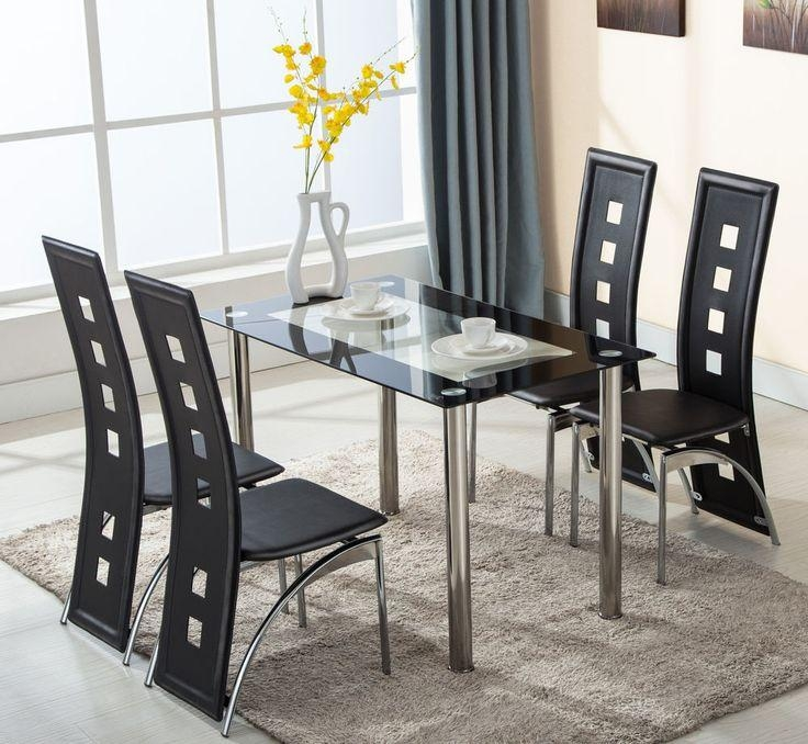 Best 25+ Glass Dining Table Set Ideas On Pinterest | Glass Dining In Recent Glass Dining Tables And Leather Chairs (Image 6 of 20)