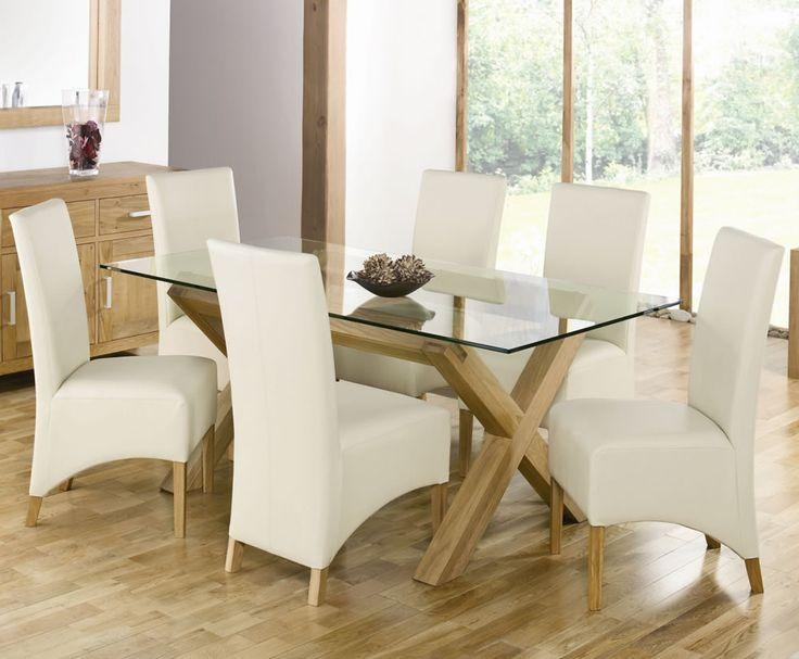 Best 25+ Glass Dining Table Set Ideas On Pinterest | Glass Dining Inside Most Recent Oak And Glass Dining Tables Sets (View 3 of 20)
