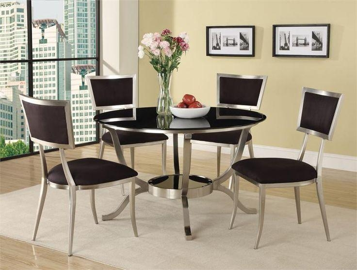 Best 25+ Glass Dining Table Set Ideas On Pinterest | Glass Dining With Most Popular Round Black Glass Dining Tables And Chairs (Image 3 of 20)
