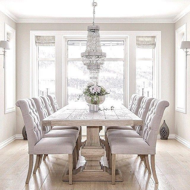 Best 25+ Gray Dining Tables Ideas On Pinterest | Gray Dining Rooms Regarding Most Current Dining Tables Grey Chairs (Image 1 of 20)