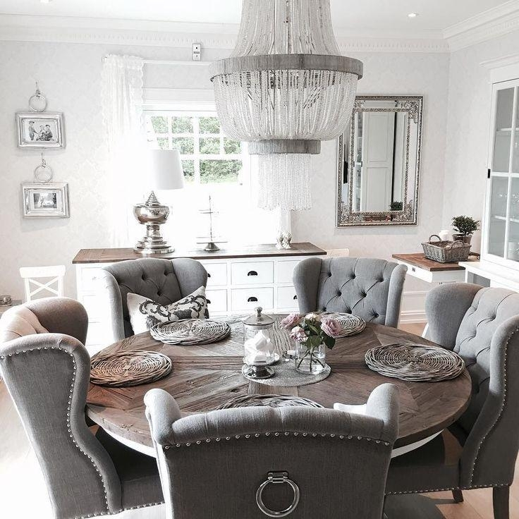 Best 25+ Gray Dining Tables Ideas On Pinterest | Gray Dining Rooms Throughout Newest Dining Tables Grey Chairs (Image 2 of 20)