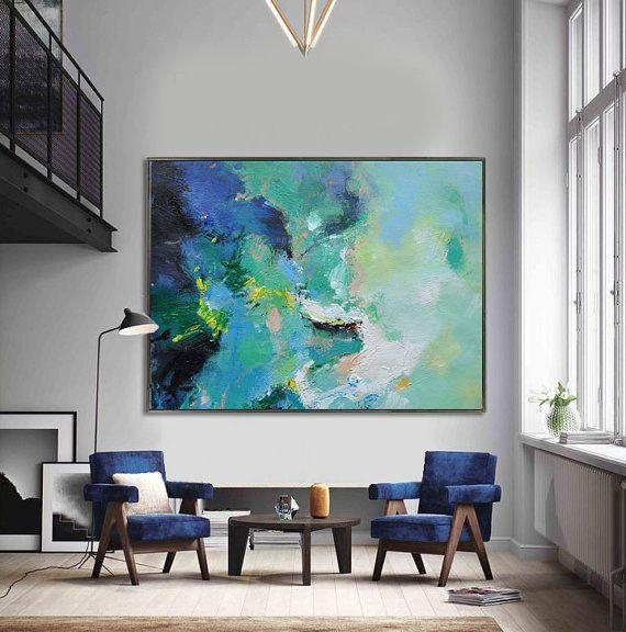 Best 25+ Green Canvas Art Ideas On Pinterest | Natural Wall Lights With Regard To Large Modern Wall Art (Image 4 of 20)