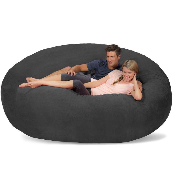 20 ideas of giant bean bag chairs sofa ideas. Black Bedroom Furniture Sets. Home Design Ideas