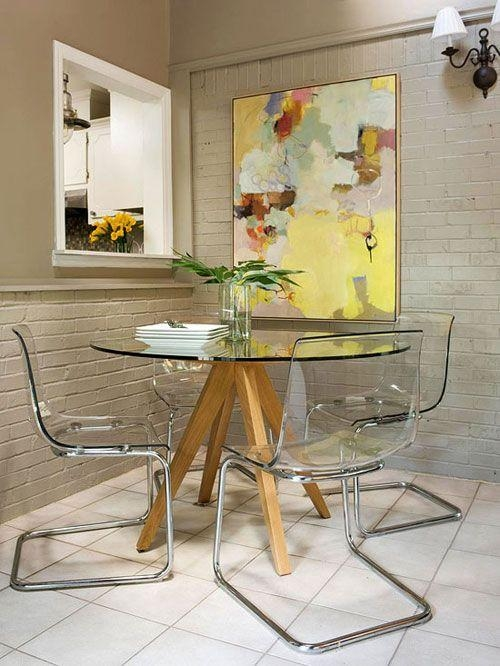 Best 25+ Ikea Glass Dining Table Ideas On Pinterest   Ikea Dining With Latest Clear Glass Dining Tables And Chairs (View 16 of 20)