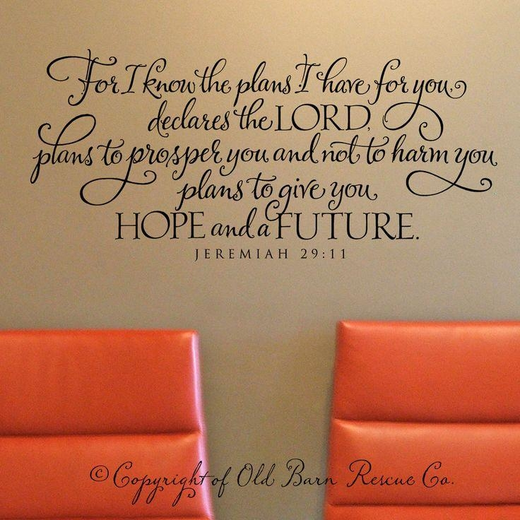 Best 25+ Jeremiah 29 Ideas On Pinterest | Jeremiah 29 13, Jeremiah Regarding Jeremiah 29 11 Wall Art (Image 5 of 20)