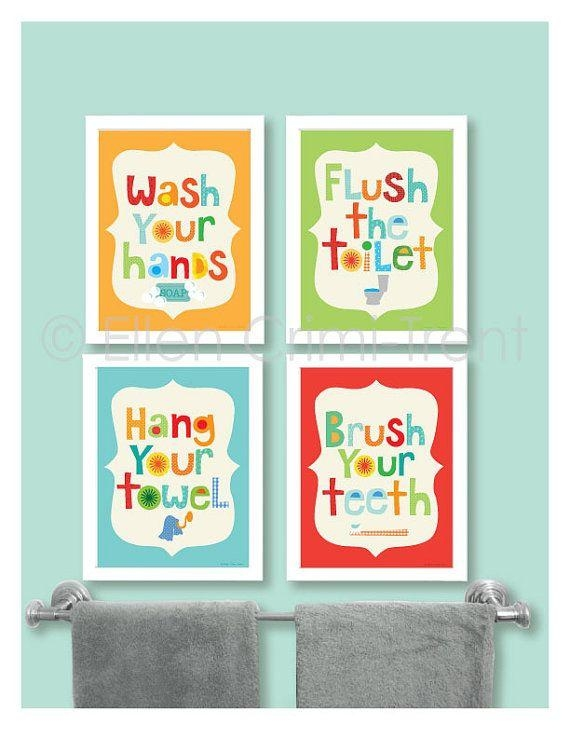 Best 25+ Kids Bathroom Art Ideas On Pinterest | Bathroom Wall Art With Kids Bathroom Wall Art (Image 9 of 20)