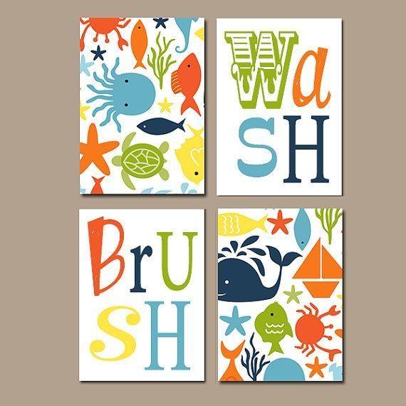 Best 25+ Kids Bathroom Art Ideas On Pinterest | Bathroom Wall Art Within Kids Bathroom Wall Art (View 7 of 20)
