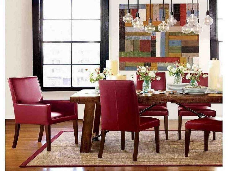 Best 25+ Leather Dining Room Chairs Ideas On Pinterest | Modern Within Red Leather Dining Chairs (Image 3 of 20)