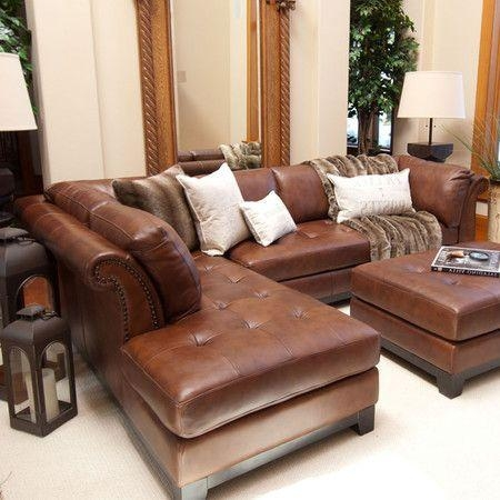 Best 25+ Leather Sectional Sofas Ideas On Pinterest   Black Couch Intended For Traditional Leather Sectional Sofas (Image 4 of 20)