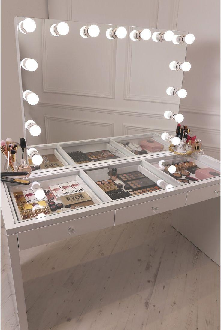 Best 25+ Makeup Table With Mirror Ideas On Pinterest | Makeup Intended For Vanity Mirrors With Built In Lights (View 18 of 20)