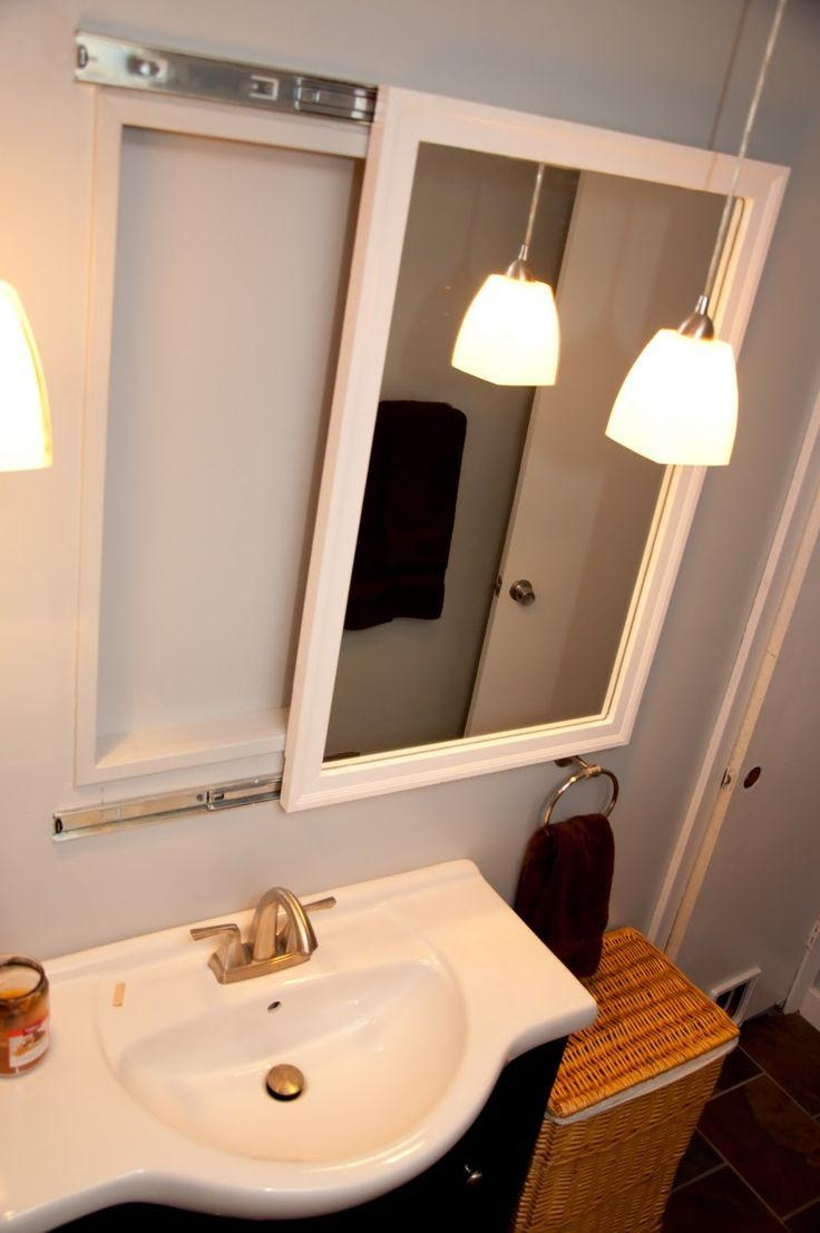20 photos bathroom vanity mirrors with medicine cabinet - Bathroom mirror with hidden storage ...