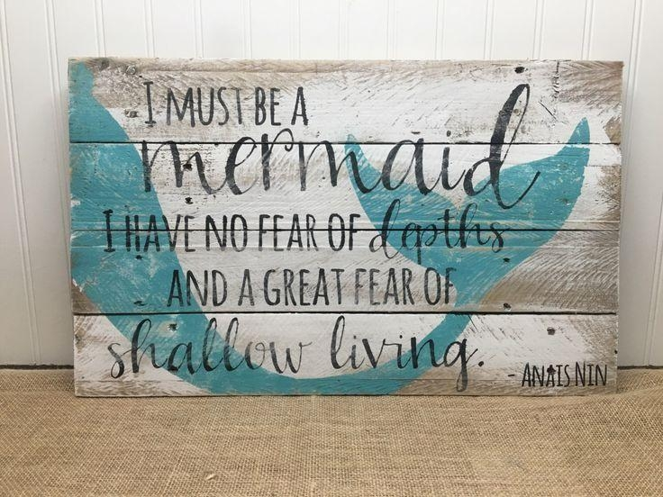 Best 25+ Mermaid Wall Art Ideas On Pinterest | Mermaid Wall Decor In Mermaid Wood Wall Art (View 10 of 20)