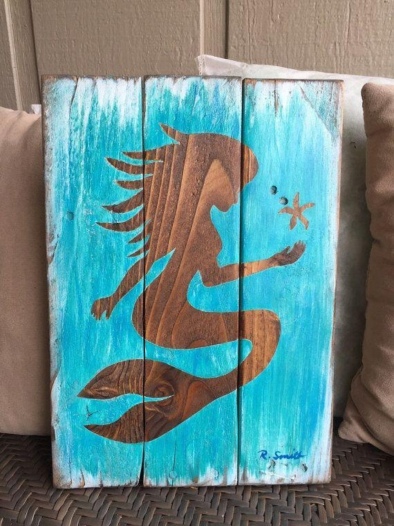 Best 25+ Mermaid Wall Decor Ideas On Pinterest | Mermaid Wall Art Intended For Mermaid Wood Wall Art (Image 2 of 20)