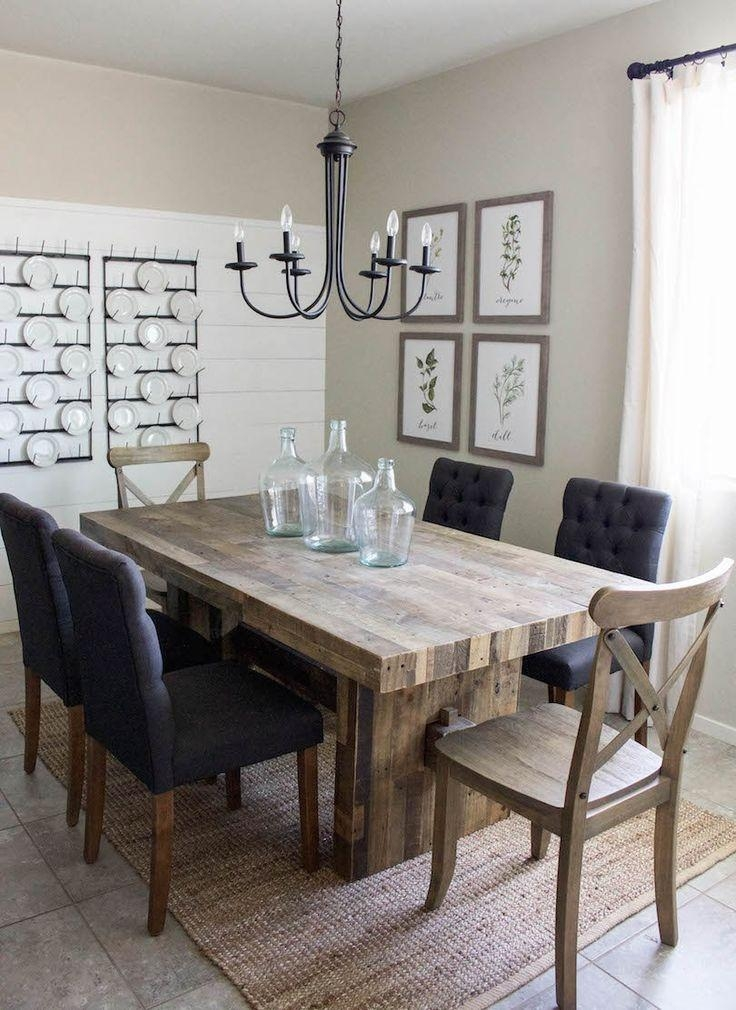 Best 25+ Modern Farmhouse Table Ideas On Pinterest | Dining Room With Regard To Most Up To Date Dining Room Tables (Image 7 of 20)