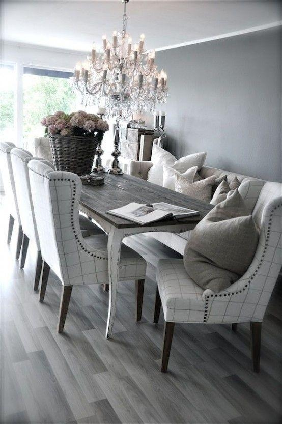 Best 25+ Neutral Dining Rooms Ideas On Pinterest | Christmas Inside 2018 Dining Tables Grey Chairs (Image 4 of 20)