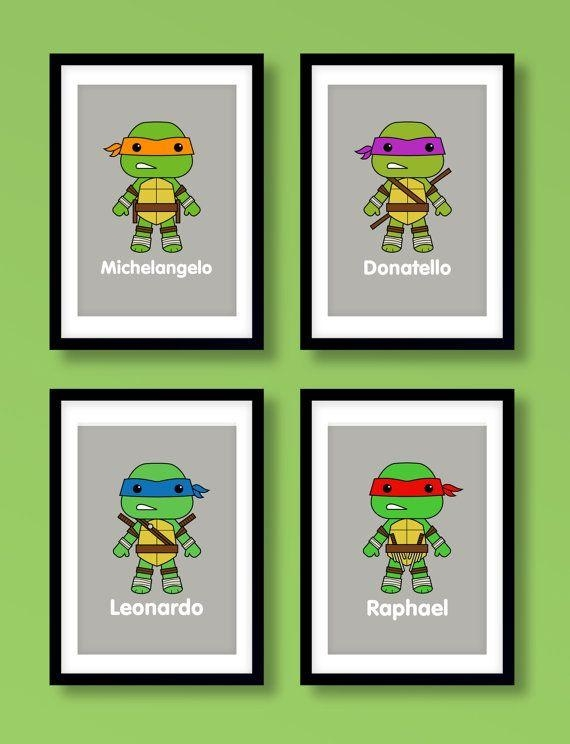 Best 25+ Ninja Turtle Room Ideas On Pinterest | Ninja Turtle Room Intended For Tmnt Wall Art (Image 3 of 20)